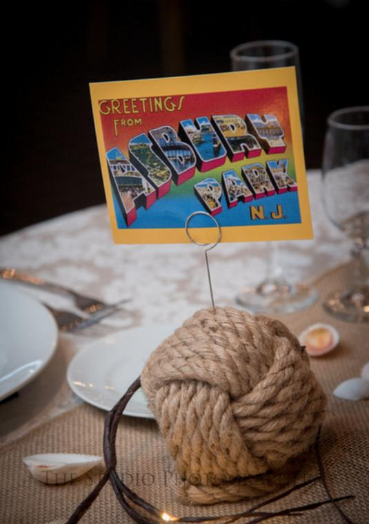 20 Rope Ball Table Number Holders