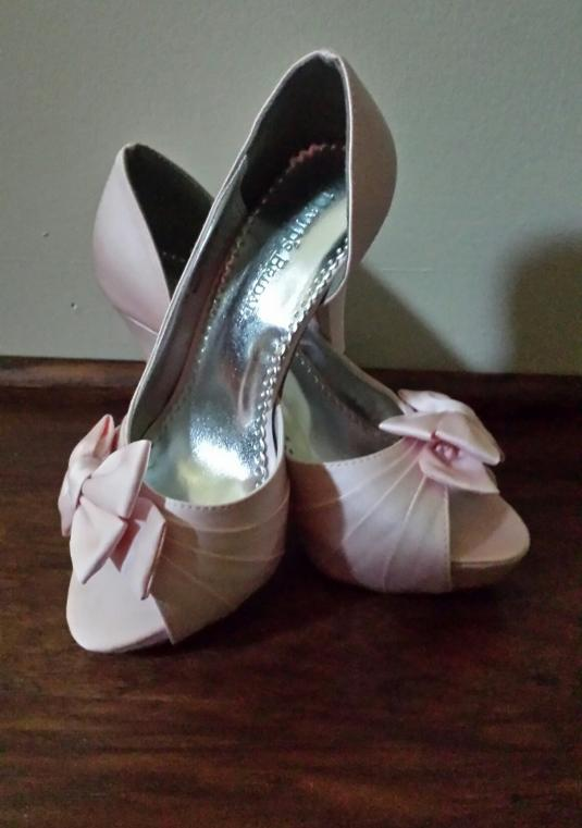 David's Bridal Maribelle Petal Shoes