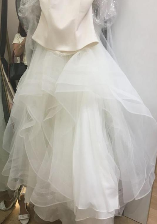Ivory Tulle Ball Gown Bridal Skirt Size 10 | Wtoo By Watters