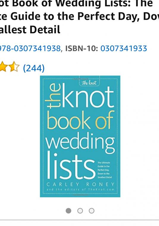 The Knot Book Of Wedding Lists And Checklist