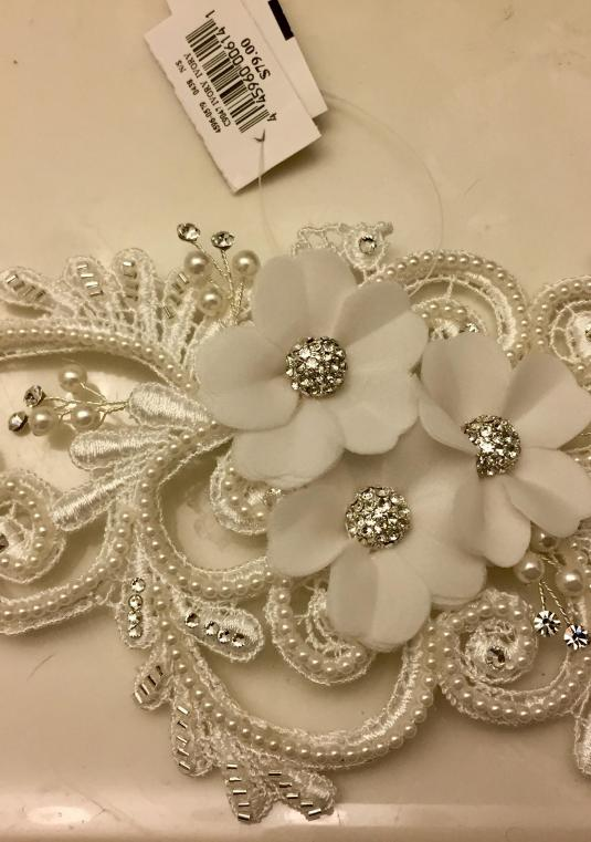 Galina Swirl And Pearl Coordinated Flower Clip
