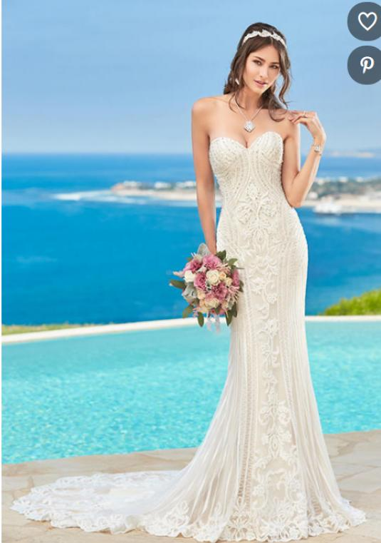 Stunning Kitty Chen Couture Alvina Style Wedding Gown - Size 0