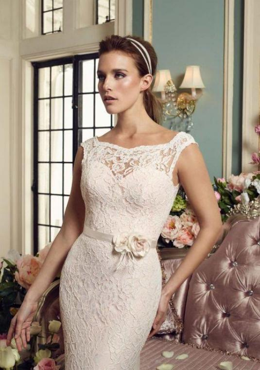 Mikaella Lace Wedding Dress #2157