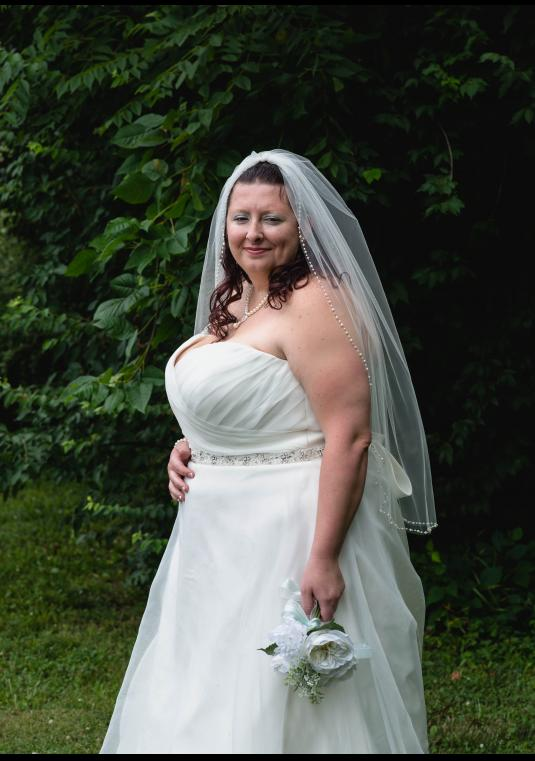 Wedding Dress, Belt And Veil