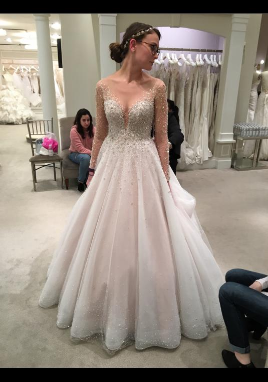 Dennis Basso Beaded Ball Gown