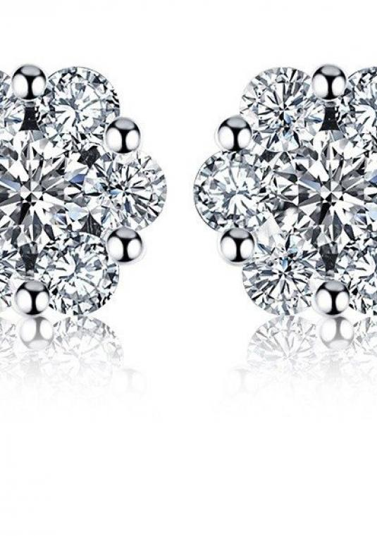 New Real Diamond Earrings Certified 0.43 Cttw H / Si Real Diamond Stud Earrings 18k Rose Gold