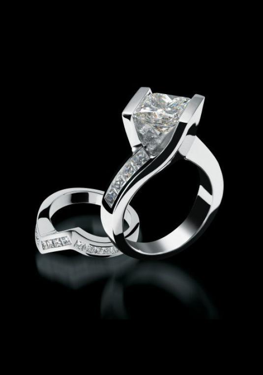 Wedding Band Sets.John Atencio Intrigue Engagement Wedding Set Wedding Ring Sets Size Only 3200 00