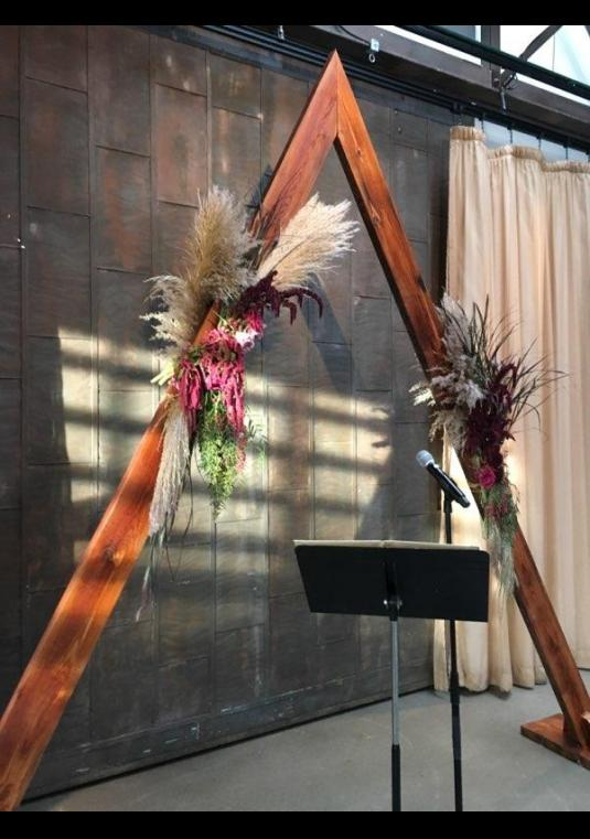 Sell By Owner >> Stunning Triangle Arch/arbor | Wedding Arch | BravoBride