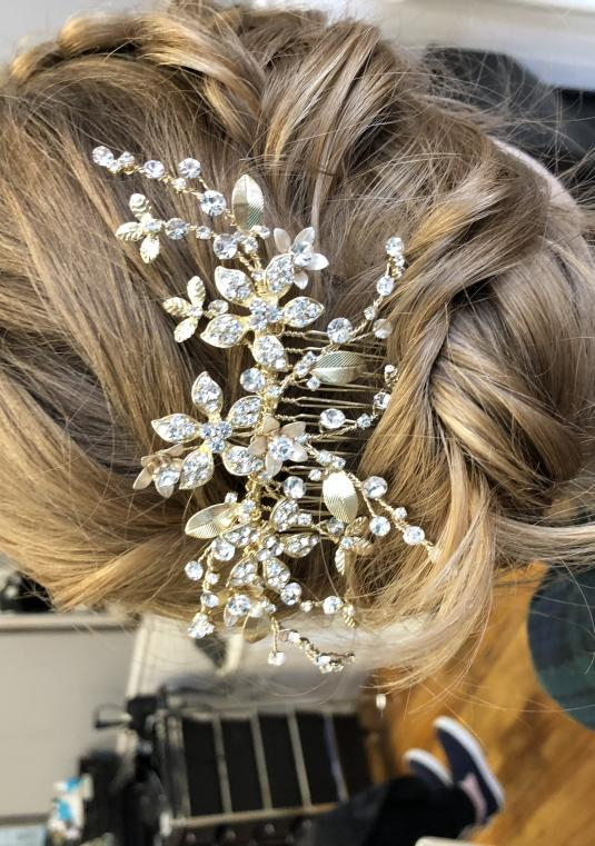 Crystal Floral Spray Comb, David�s Bridal 4596-0652