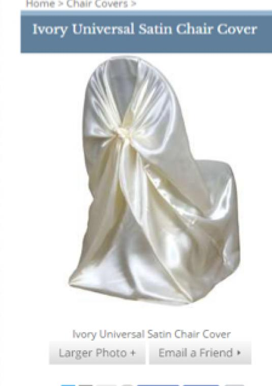 Ivory Satin Linens - 30 Tablecloths  And 250 Chair Covers