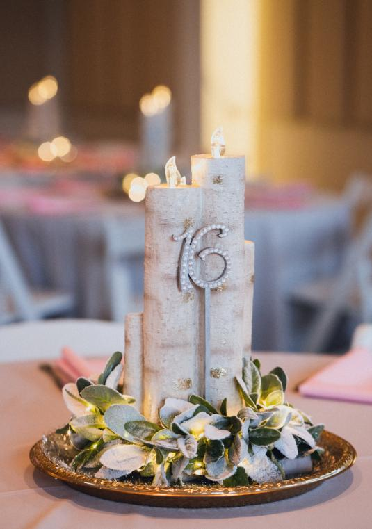 Custom Made Candle Centerpiece
