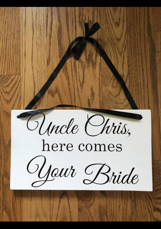 Ring Bearer Wedding Sign