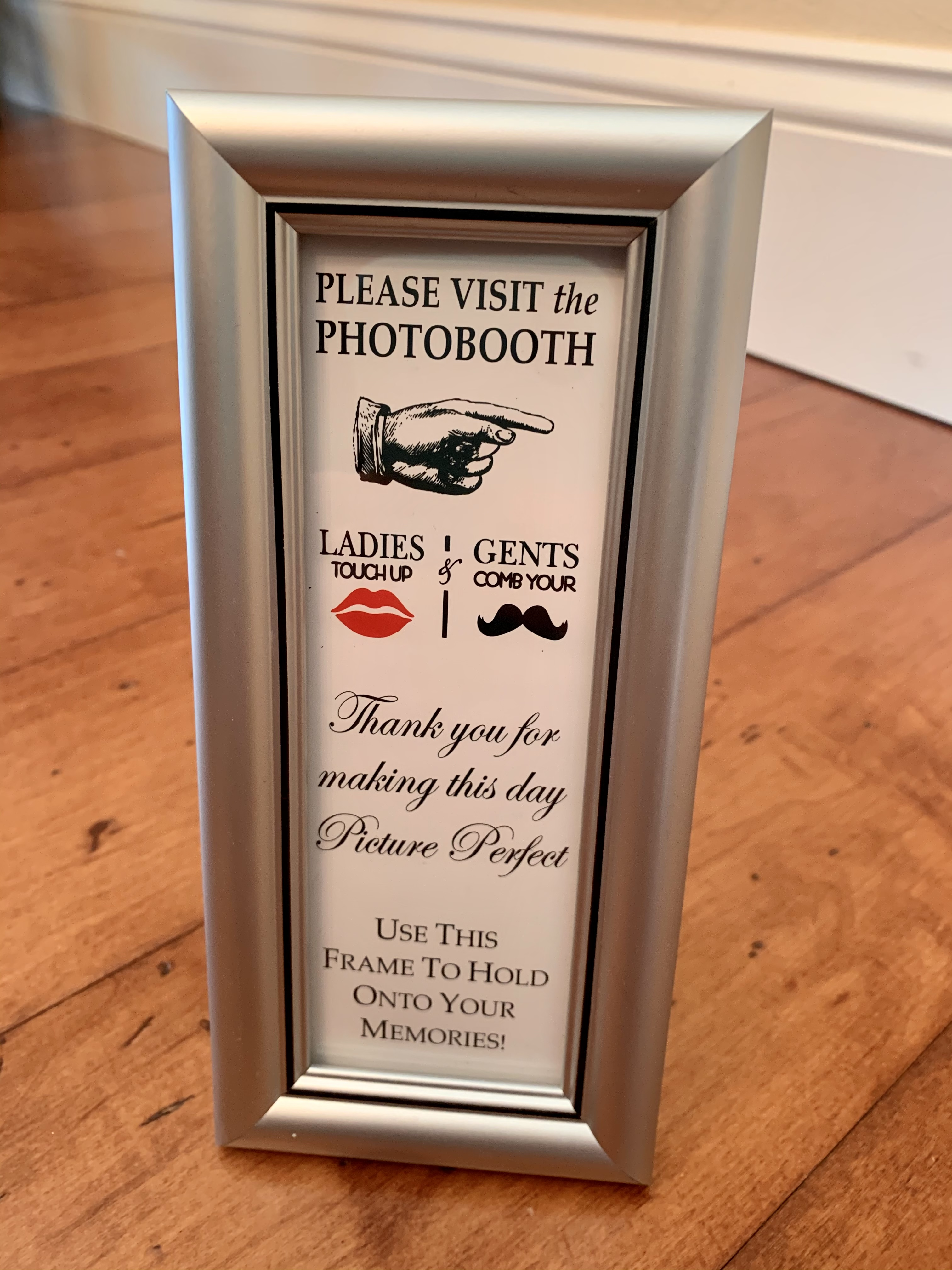Photo Booth Frame 2x6 Silver