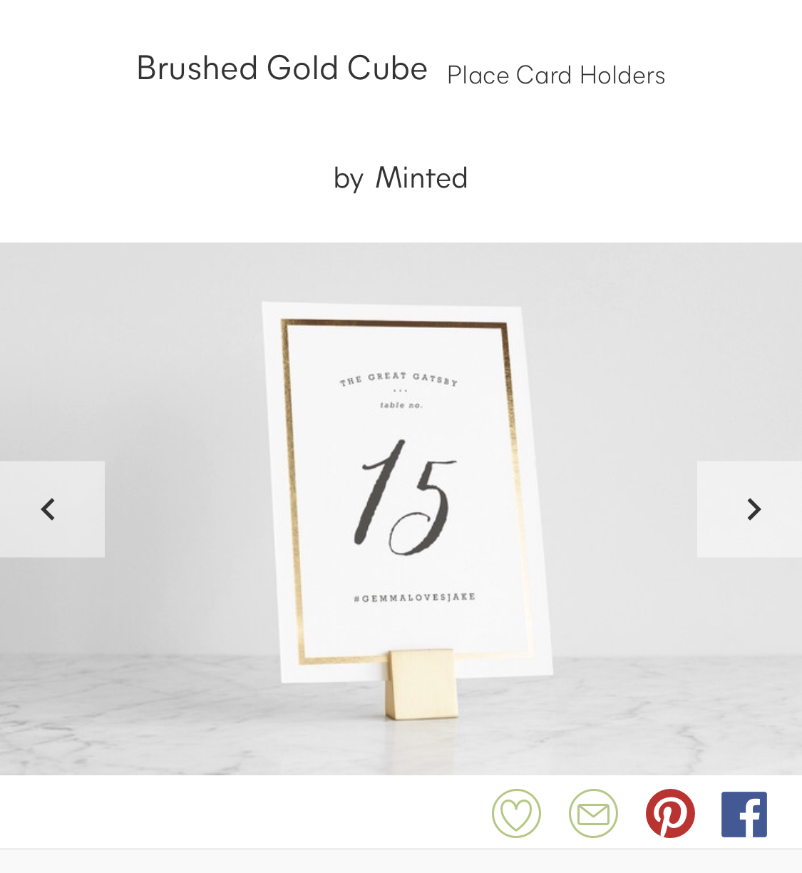 Minted Brushed Gold Table Number Holders (21)