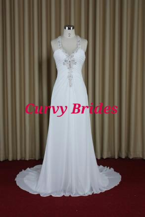 Dec Sale Custom Made Destination Wedding Dress T Bar Back Plus Size Too