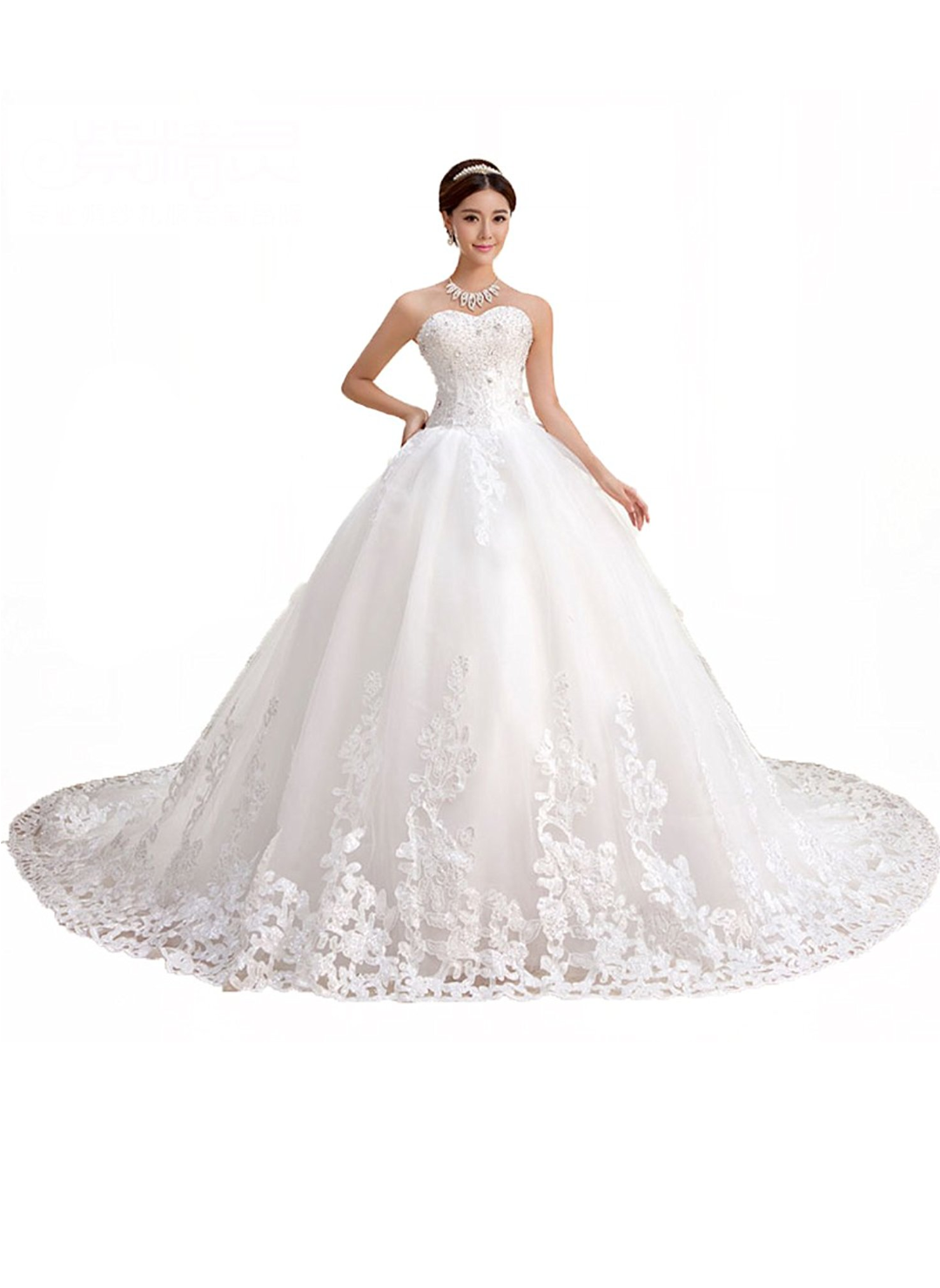 2 Be - Sweetheart Lace Chapel Bridal Gown