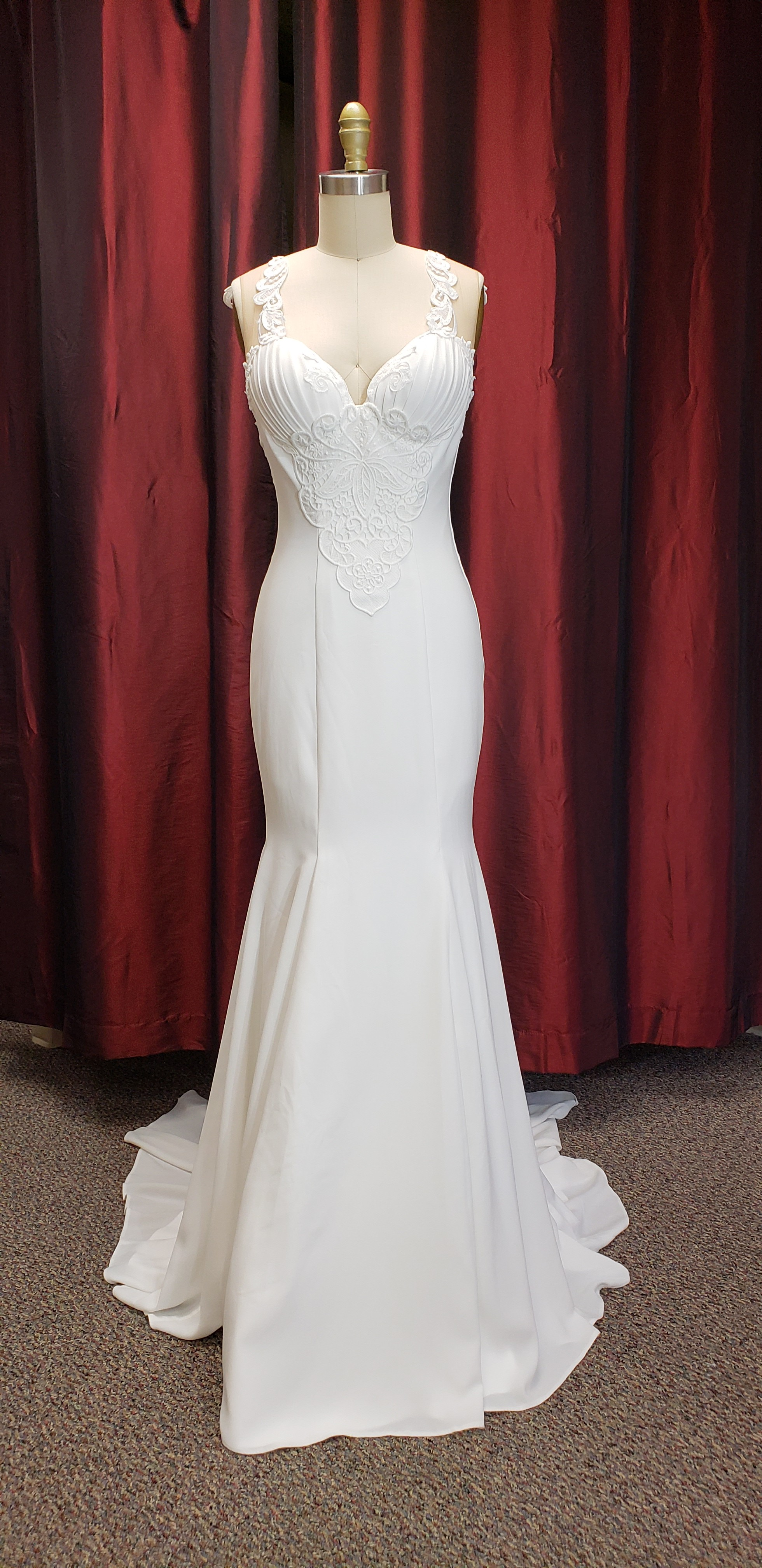 Mermaid Ivory Wedding Dress Size 6