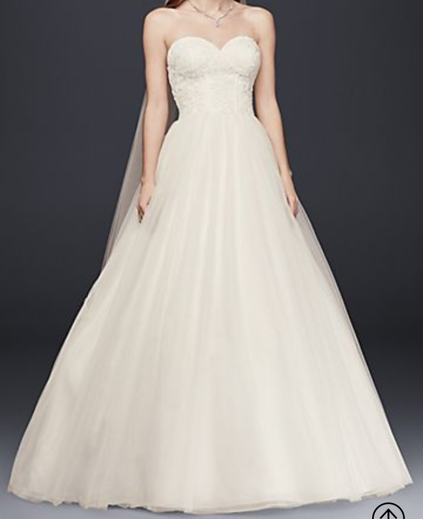 David's Bridal - Sweetheart Wedding Gown