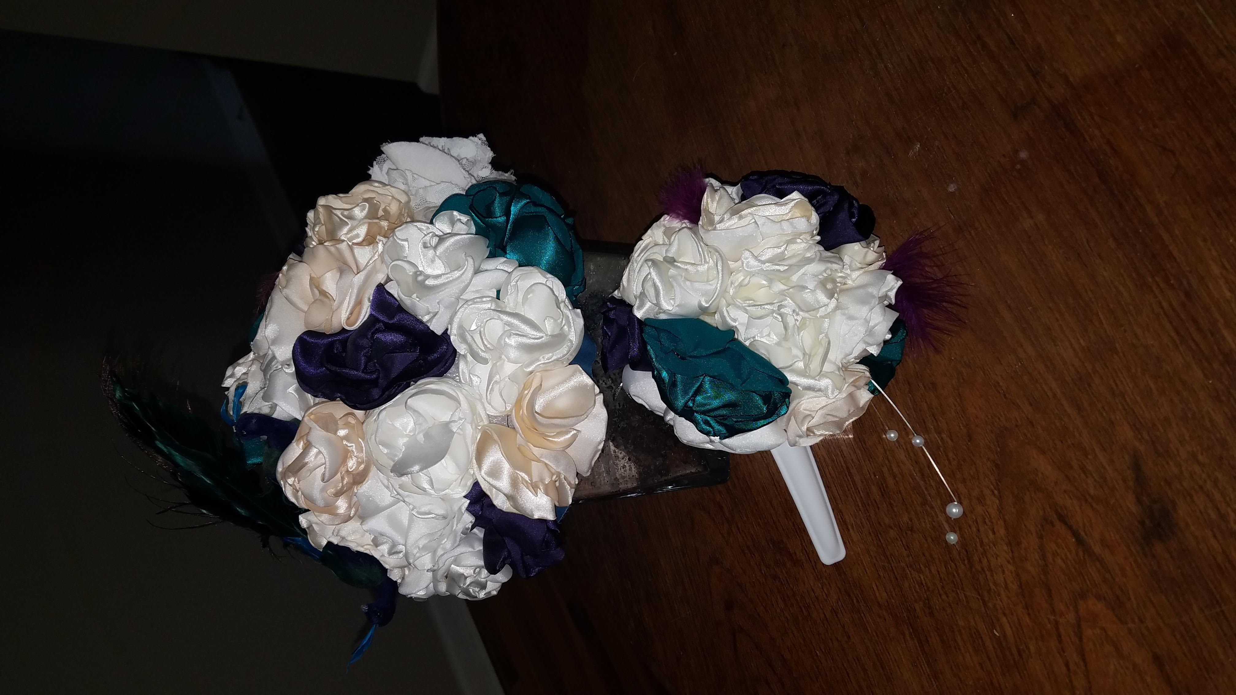 Fabric Floral Centerpieces And Bouquets