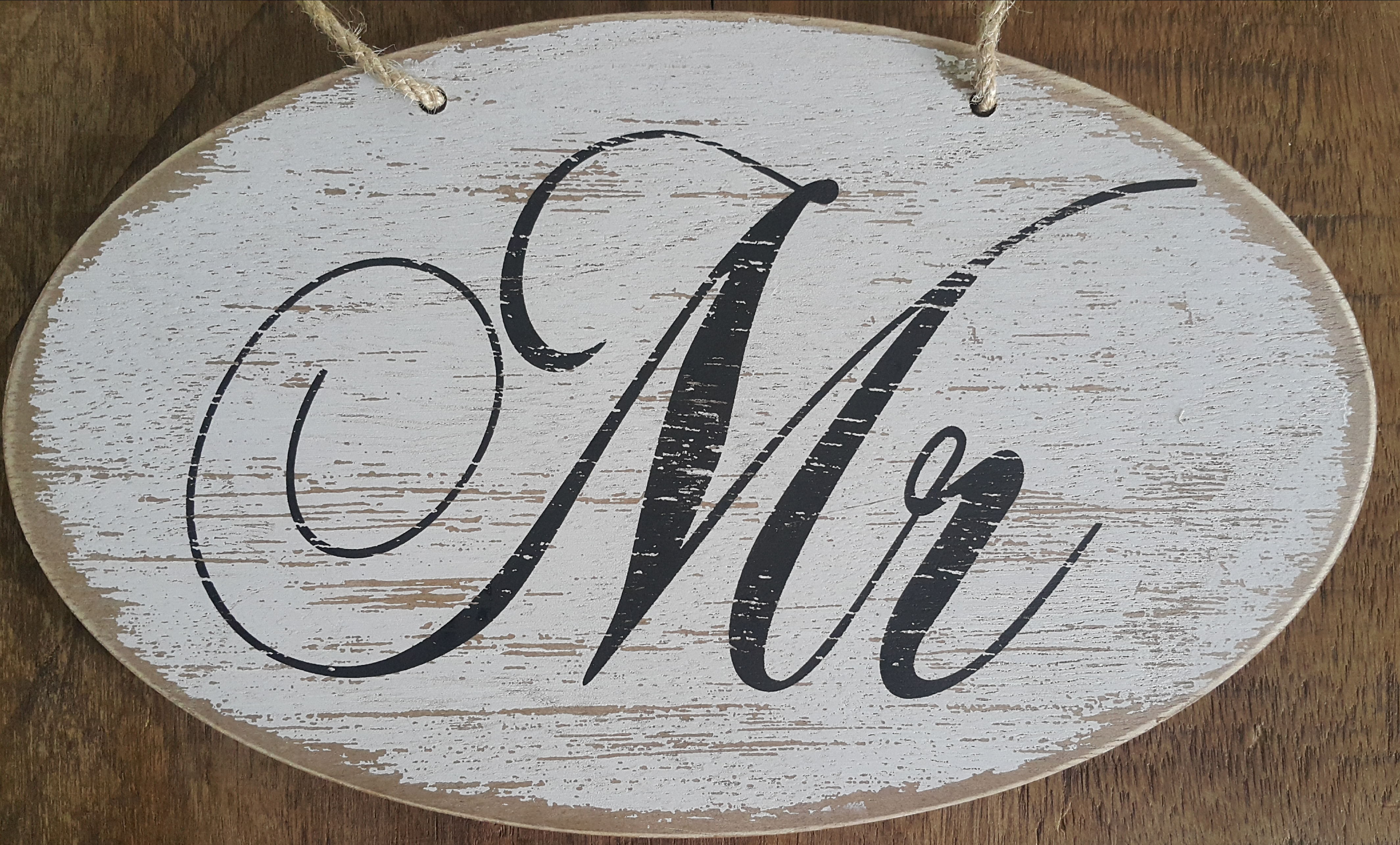 Distressed Mr And Mrs Wooden Signs
