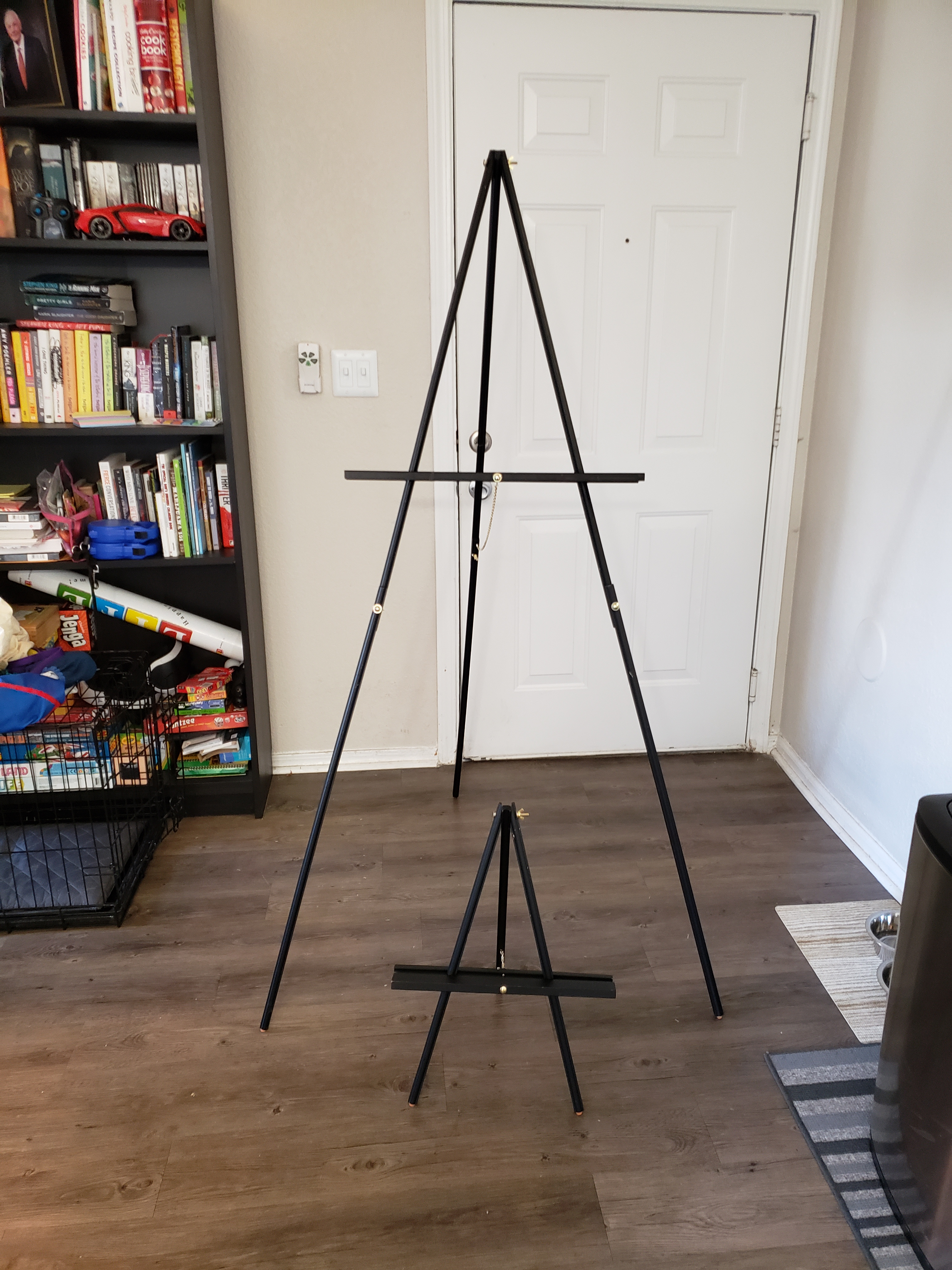 Black Easels For Signs (2 64 Inch Height, 1 21 Inch Height)