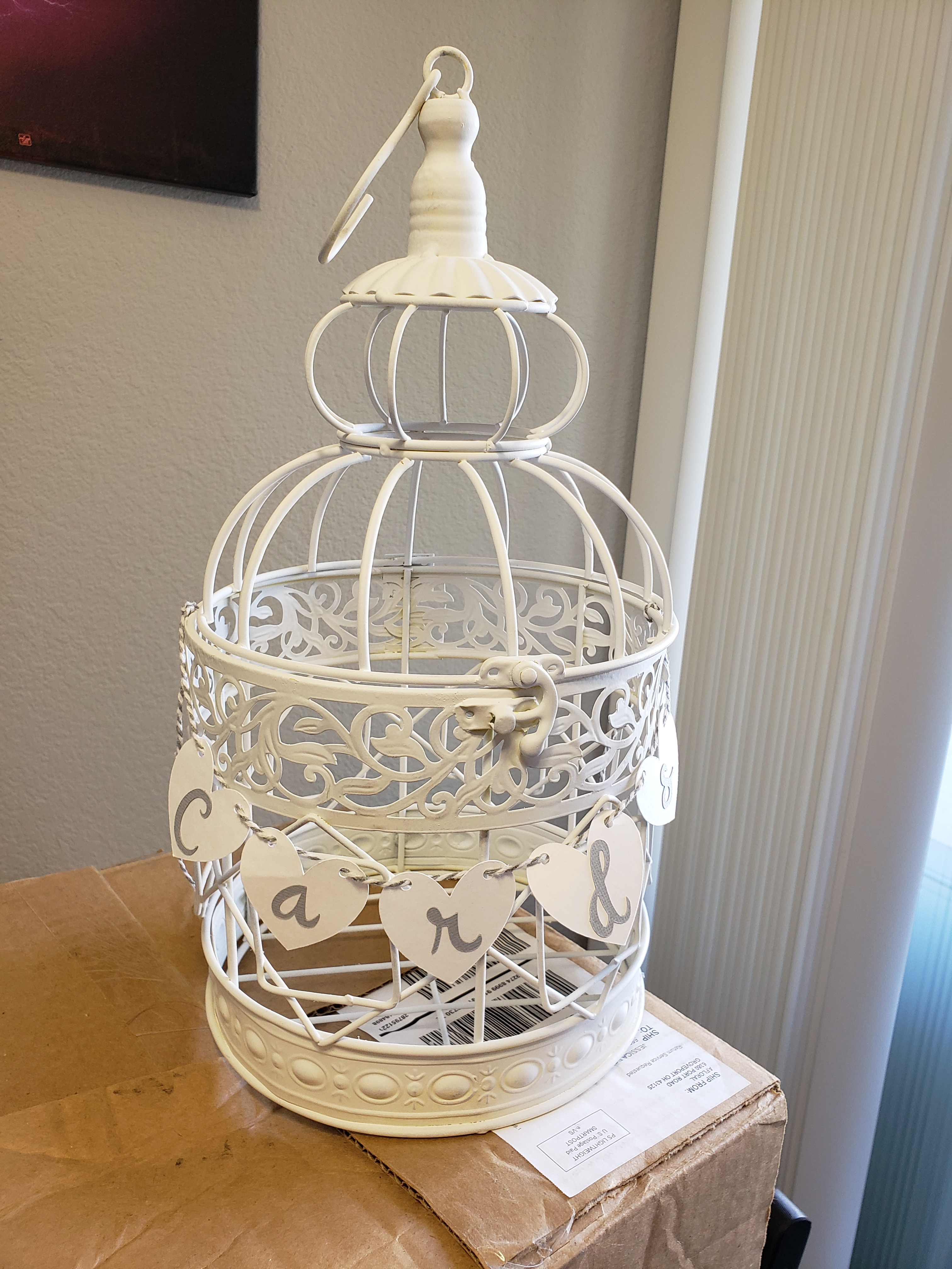White Birdcage With
