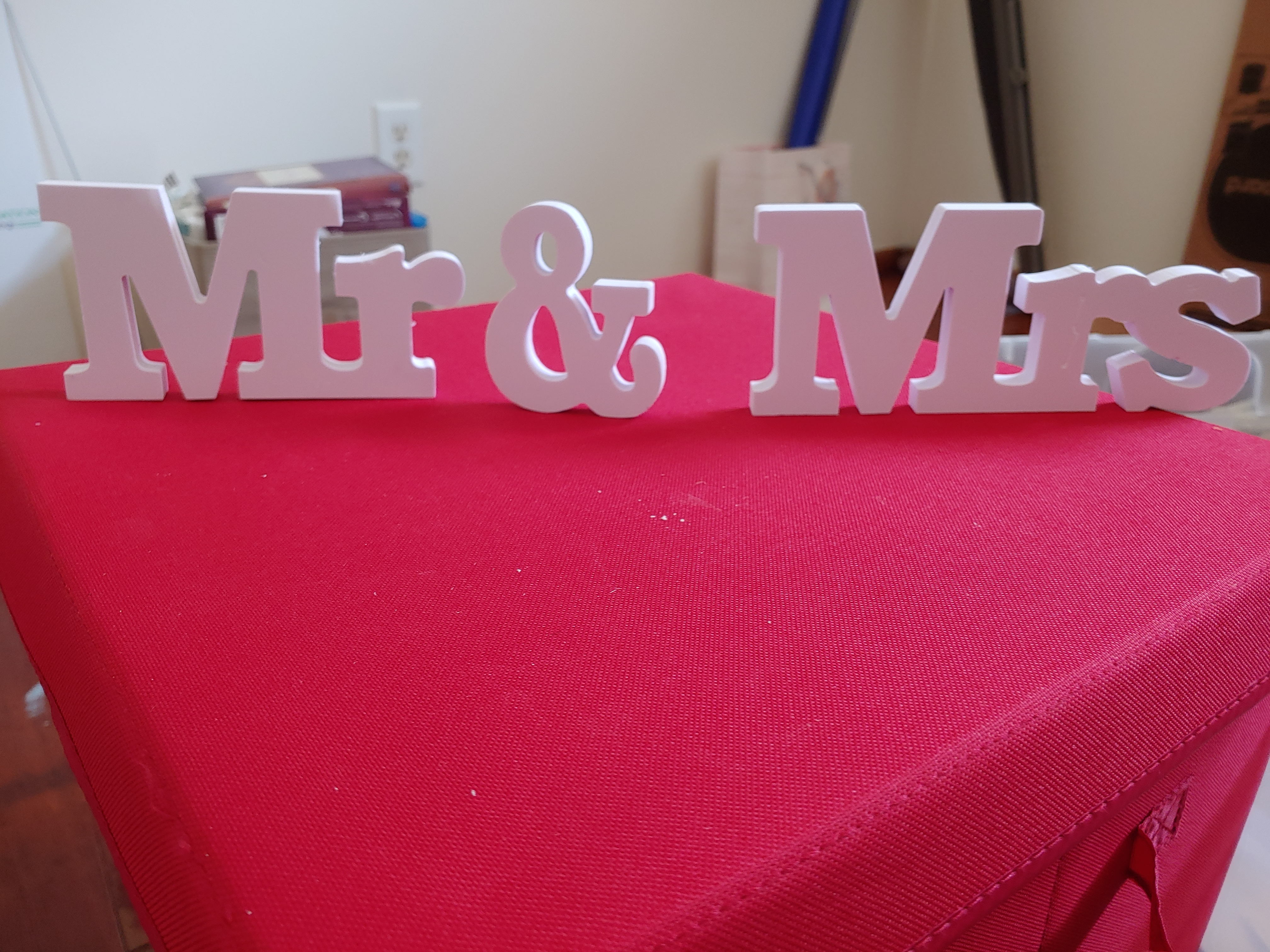Mrs And Mr Block Letters