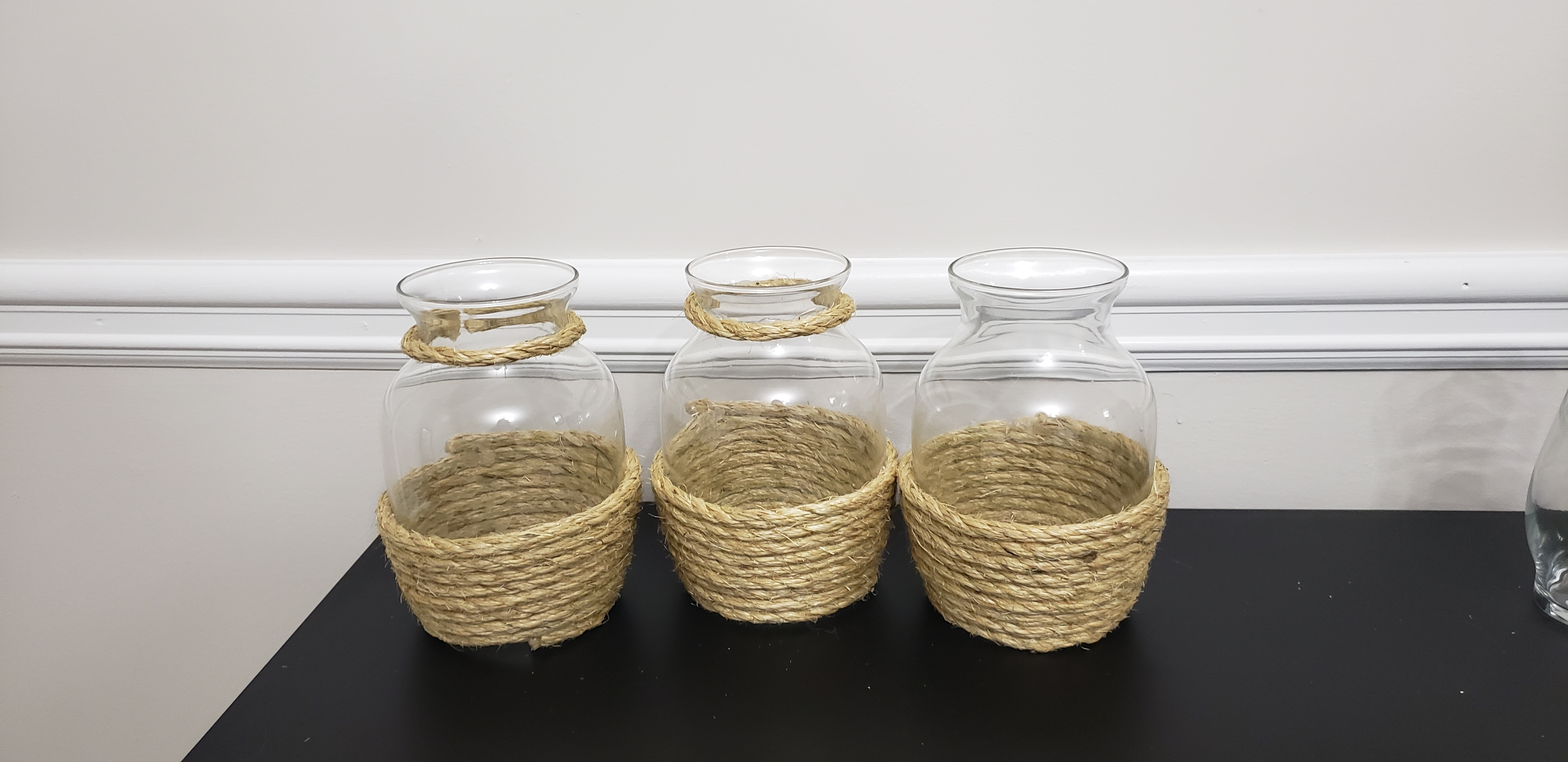Rope Wrapped Vases Various Sizes