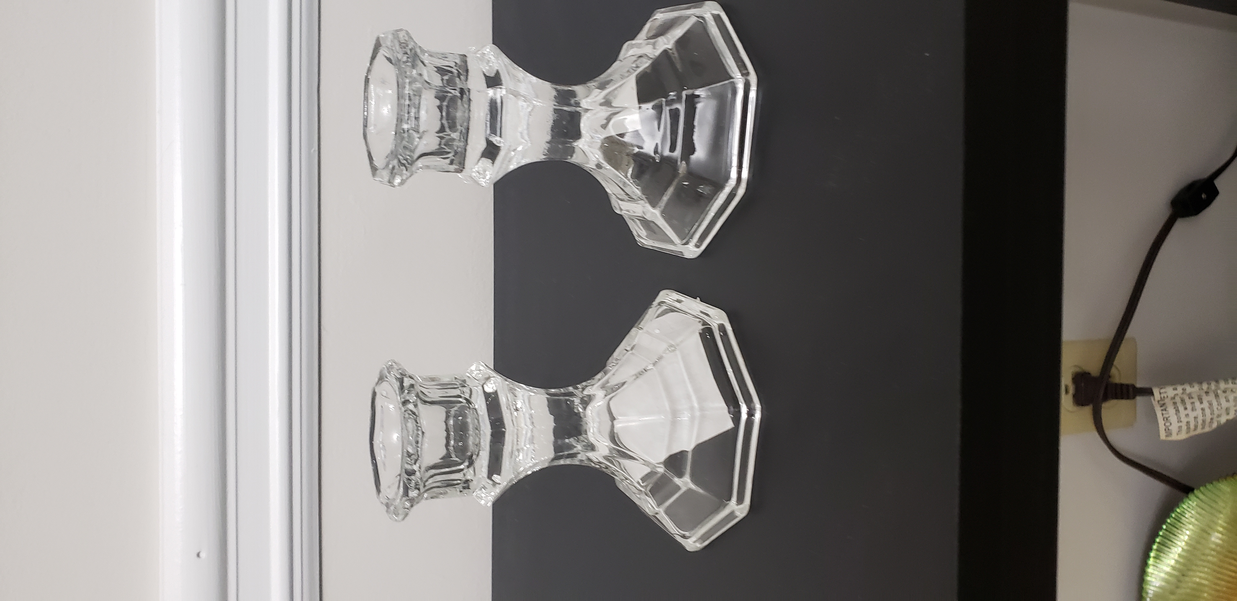 Crystal Candlestick Holders (2)