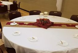 Pre-cut Burgundy Lace Table Runners