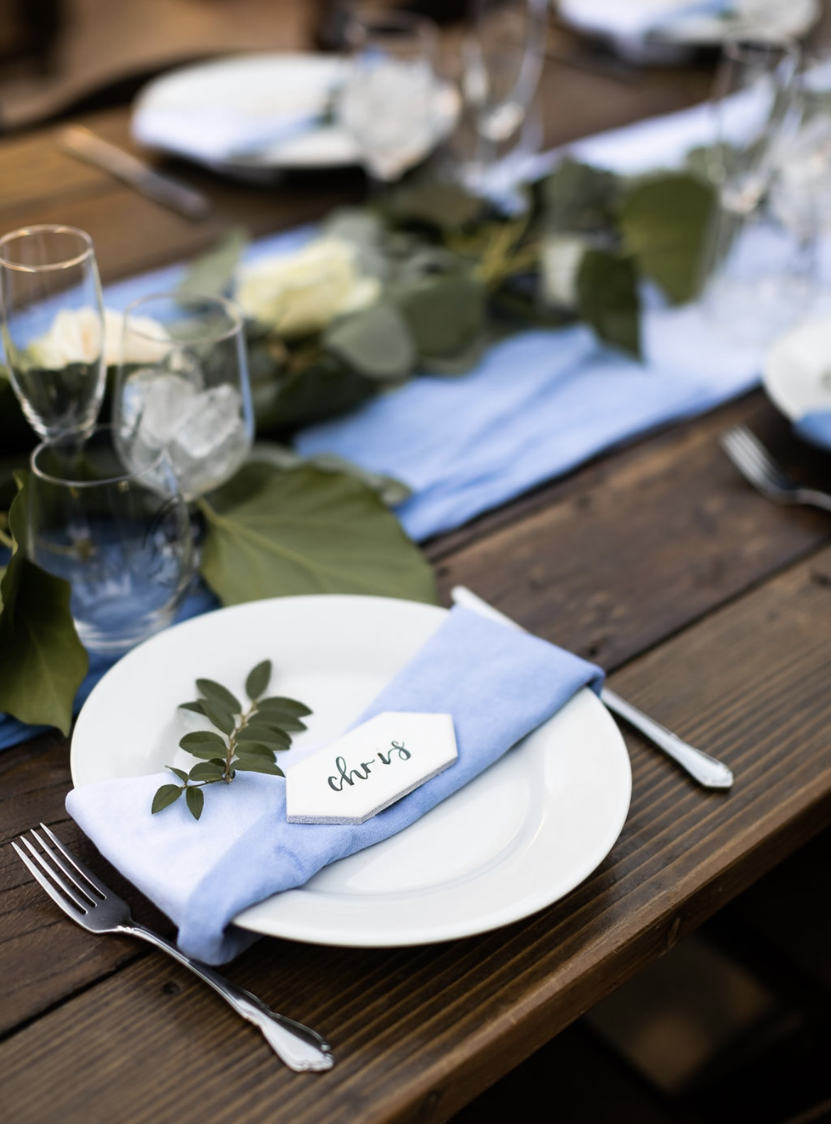 Indigo/blue Ombré Table Runners & Napkins
