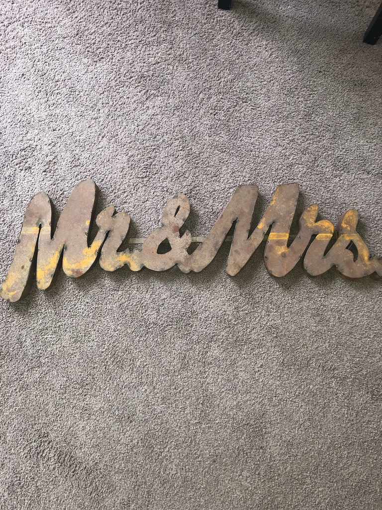 Mr And Mrs Rustic Wedding Sign