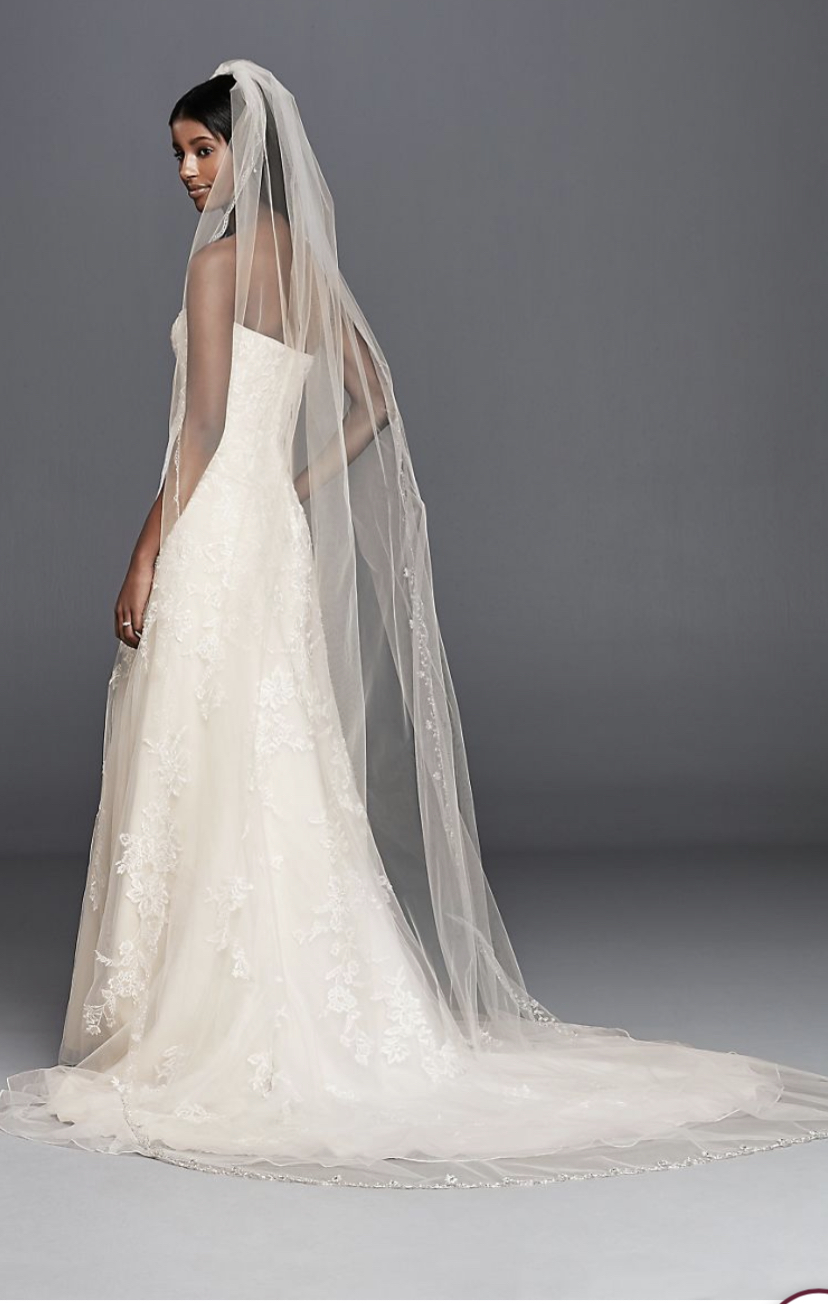 Cathedral Scalloped Veil