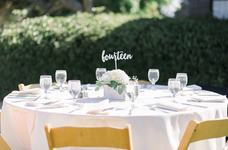 White Wash Wooden Centerpieces