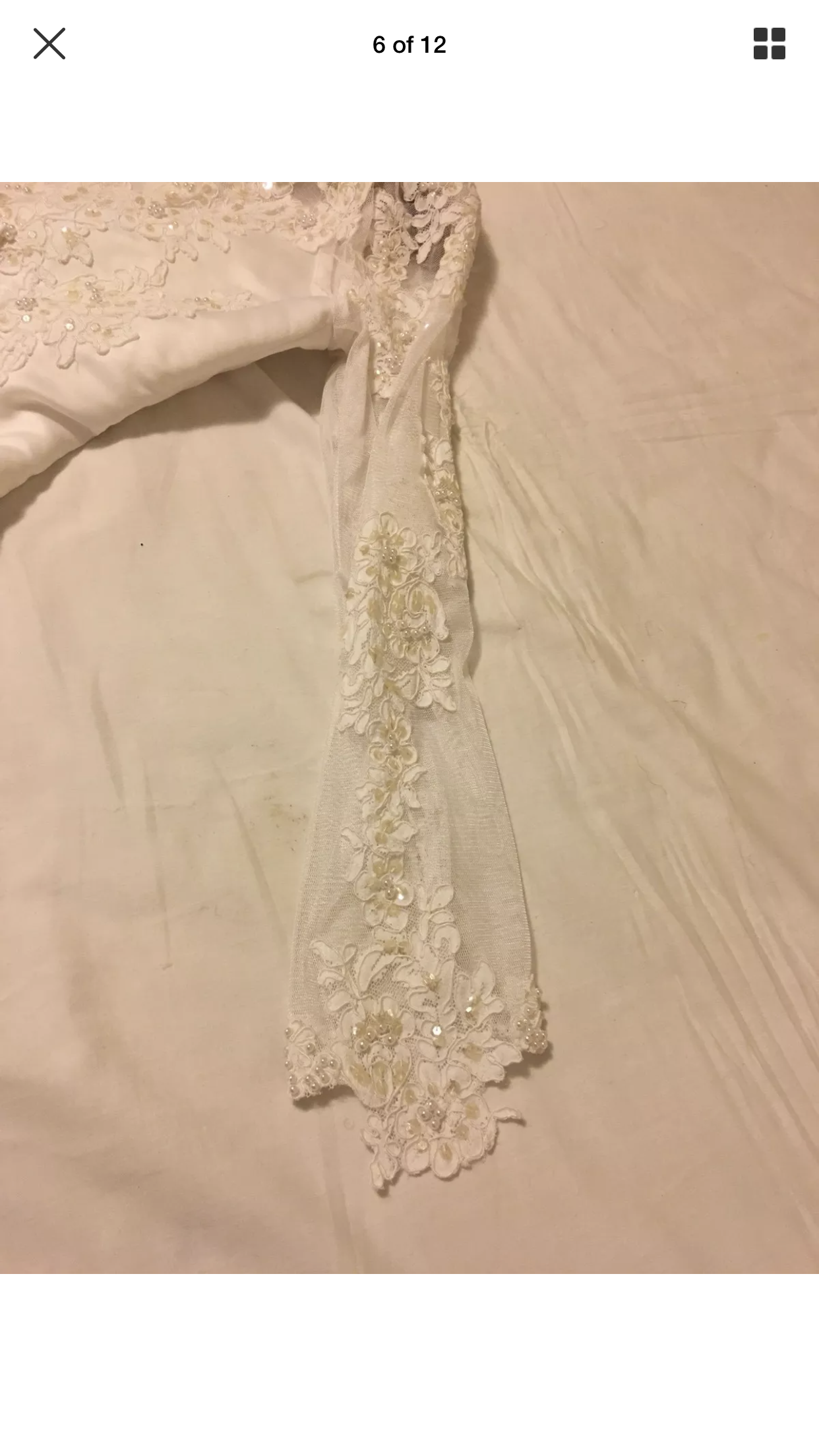 Unknown Possibly David's Bridal Attire With Pearl Beaded Tiara