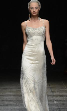 e8b831510e5 Lazaro Spagehtti Strap Wedding Dress (style 3307)