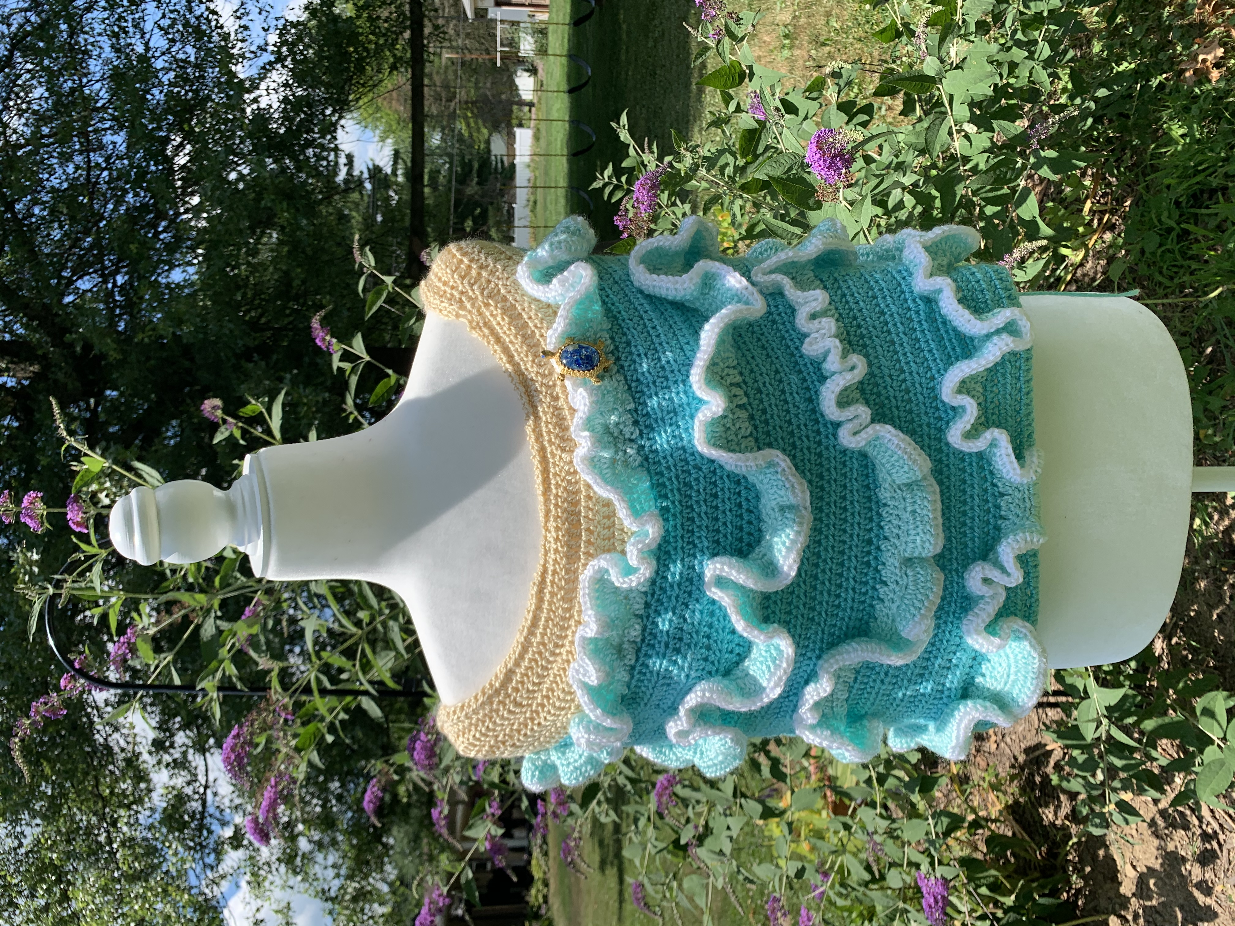 Ocean Serenity Beach Wedding Shawl