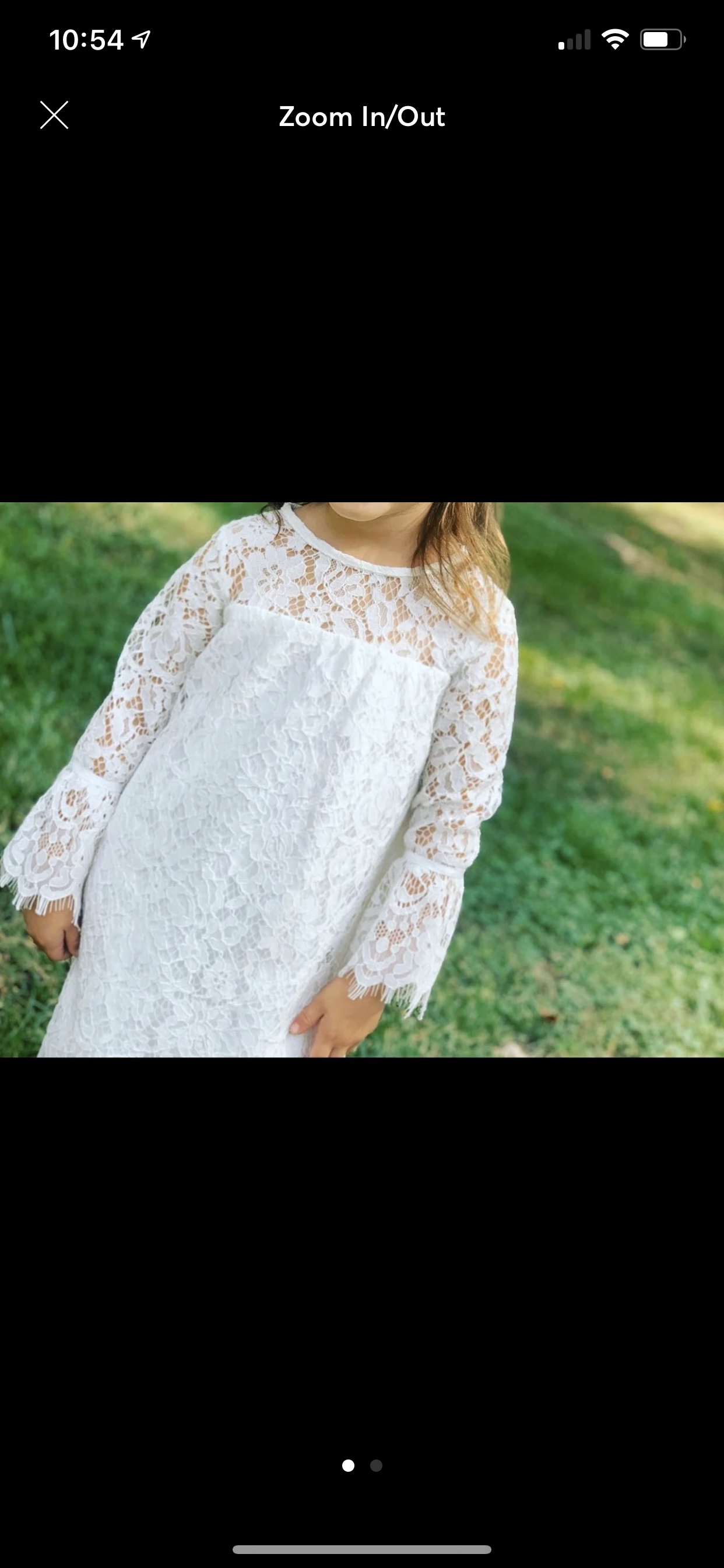 David's Bridal - Rustic Flower Girls Dress