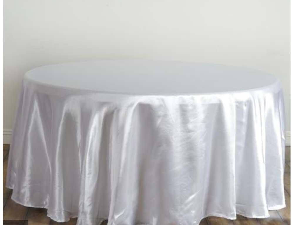 White Satin Table Cloth
