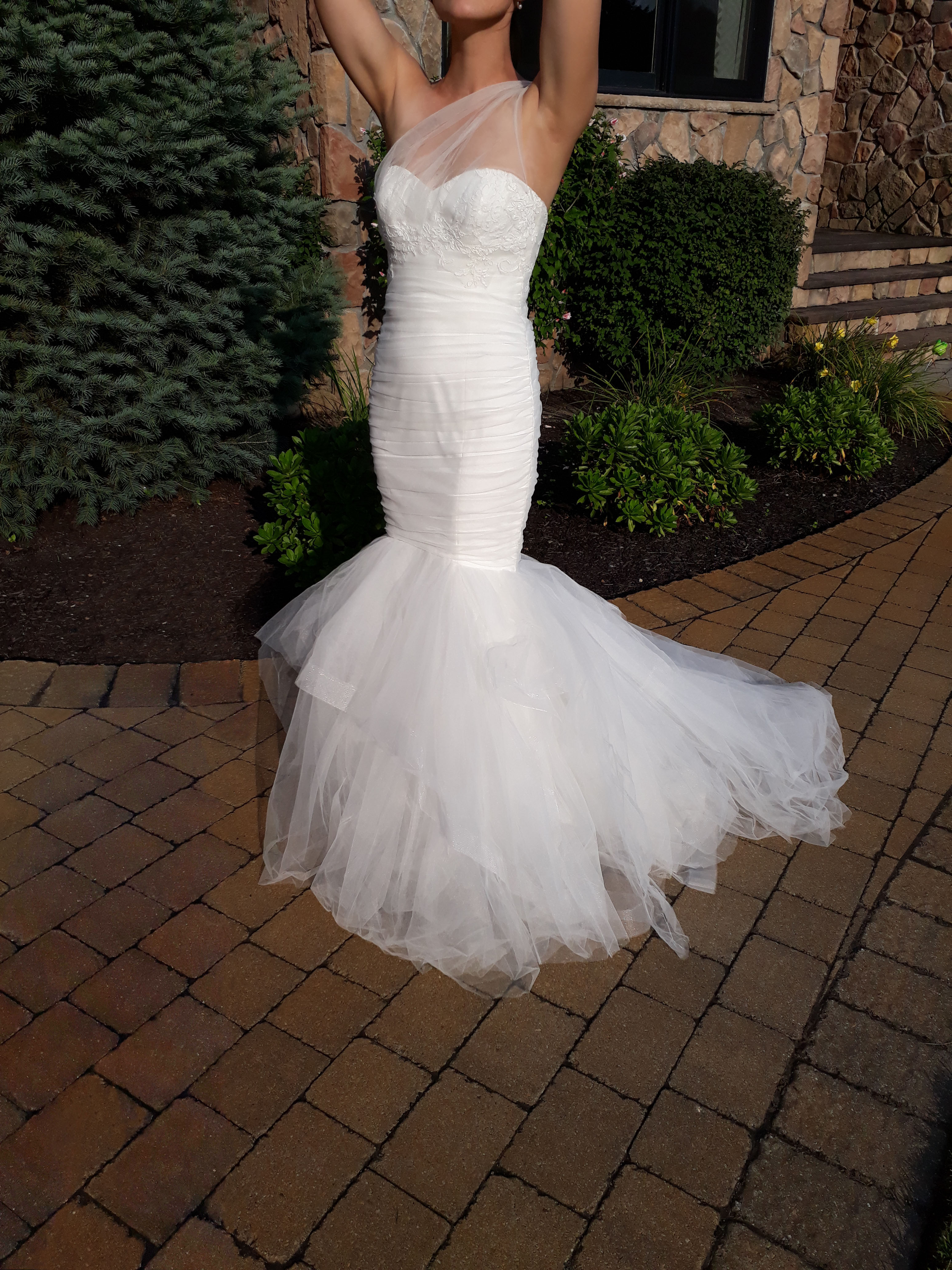 Amsale Trumpet Style Gown