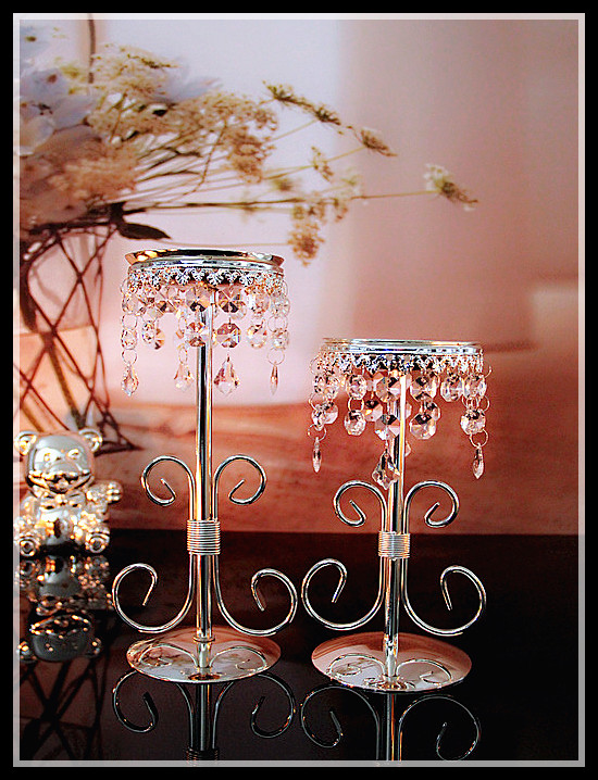 New Set Crystal Candle Holder Centerpiece Wedding Gift Housewarming