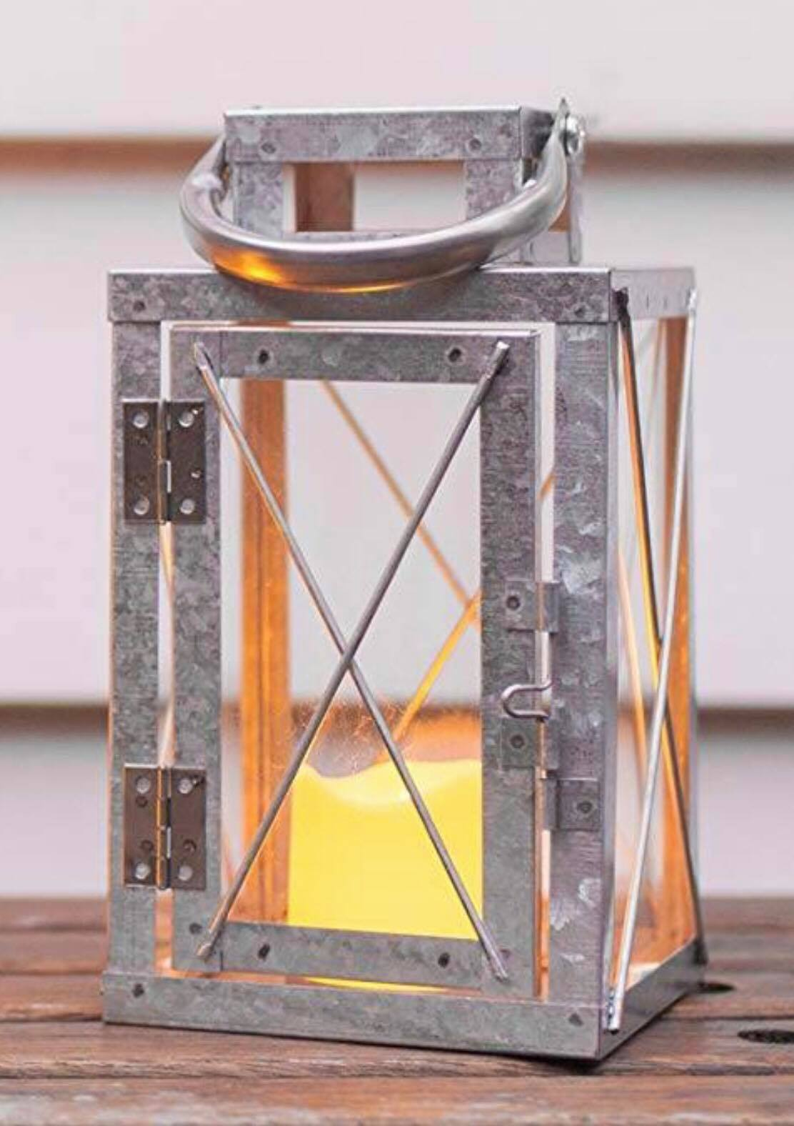 27 Galvanized Lanterns With Led Candles Included