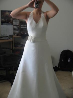 Davids bridal halter wedding dress size 4 bridal gown davids bridal halter wedding dress junglespirit Image collections