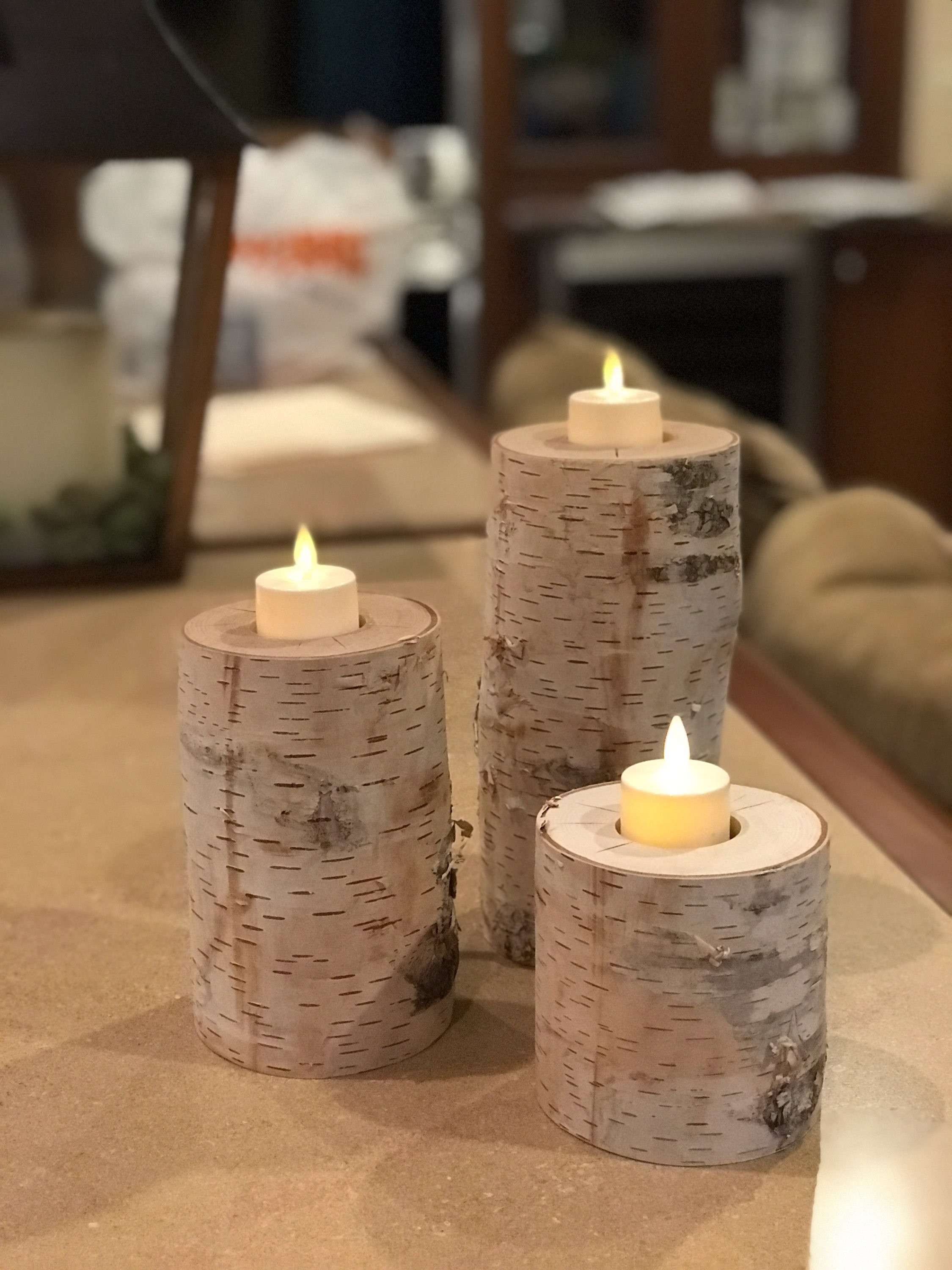 Birchwood Candle Holders