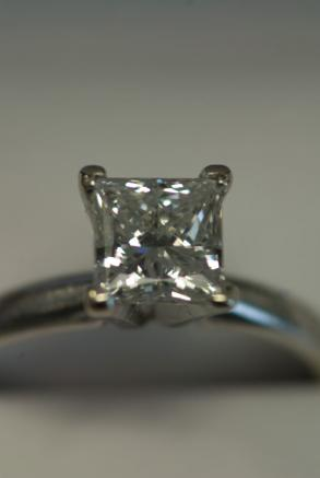 1.33ct Square Cut Diamond Engagement Ring