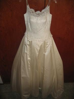 100% Silk, Stephen Yearick Couture Wedding Gown, Size 8