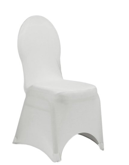 Silver Spandex Chair Covers
