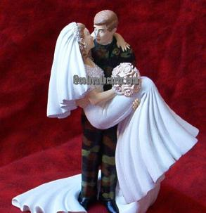 army man wedding cake topper army cake topper wedding cake topper bravobride 10823