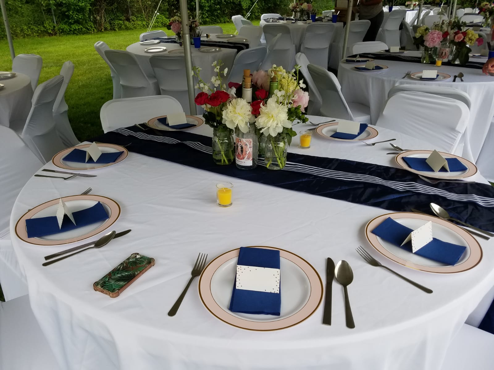 Navy Table Runners