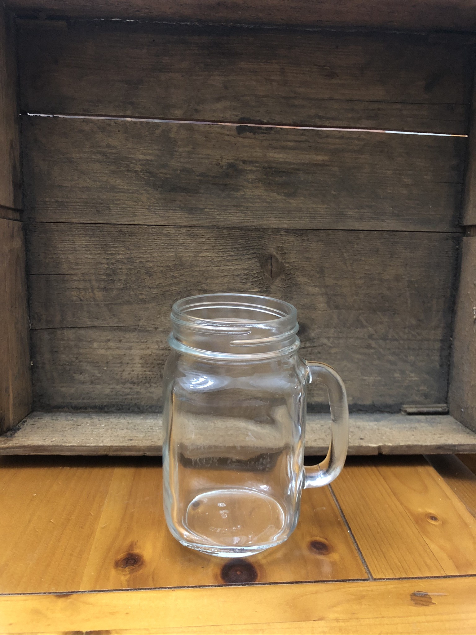 16 Oz Glass Mason Jar Mugs